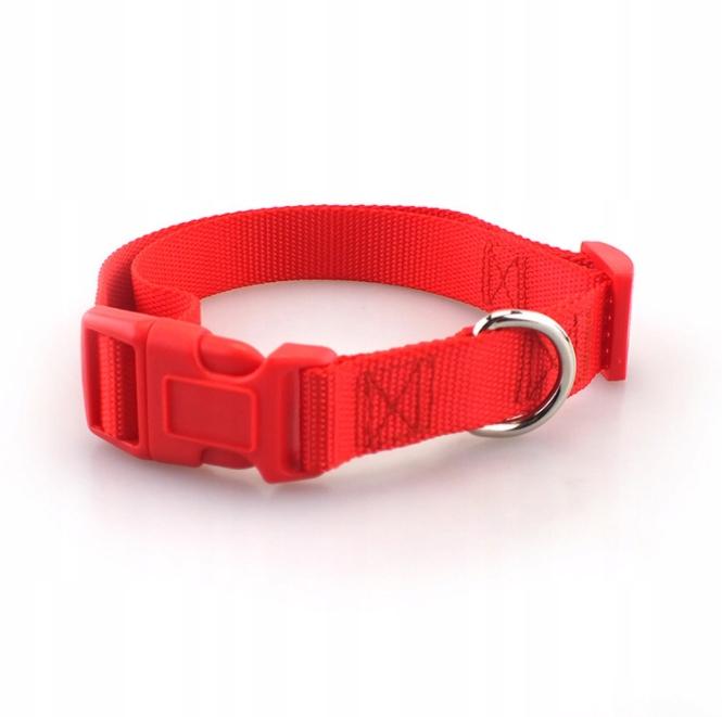 KOMPLET SMYCZ + OBROŻA REGULOWANA dla Psa 15mm M Kolor odcienie czerwieni