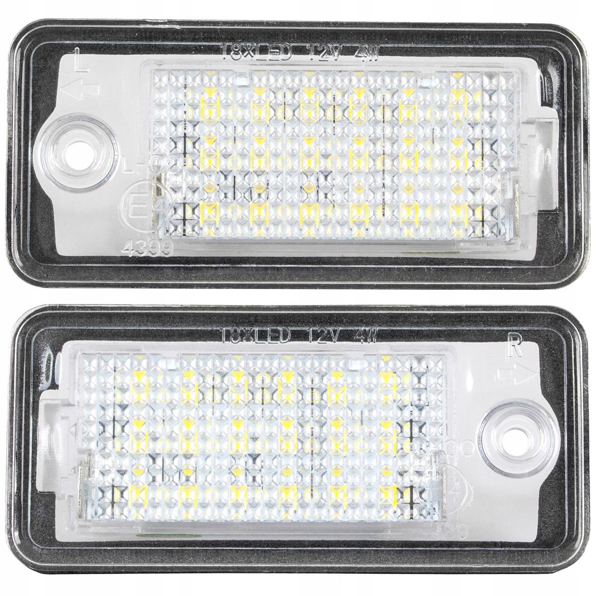 лампы led подсветка к audi a3 8p a4 b6 b7 a6