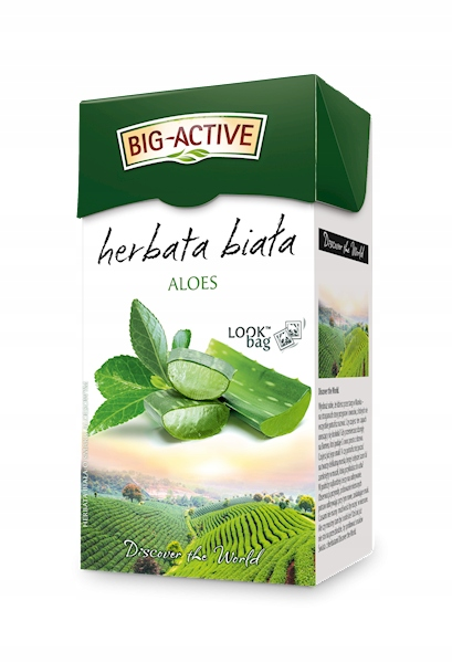 Белый чай Big Active 20 ст.л. с алоэ