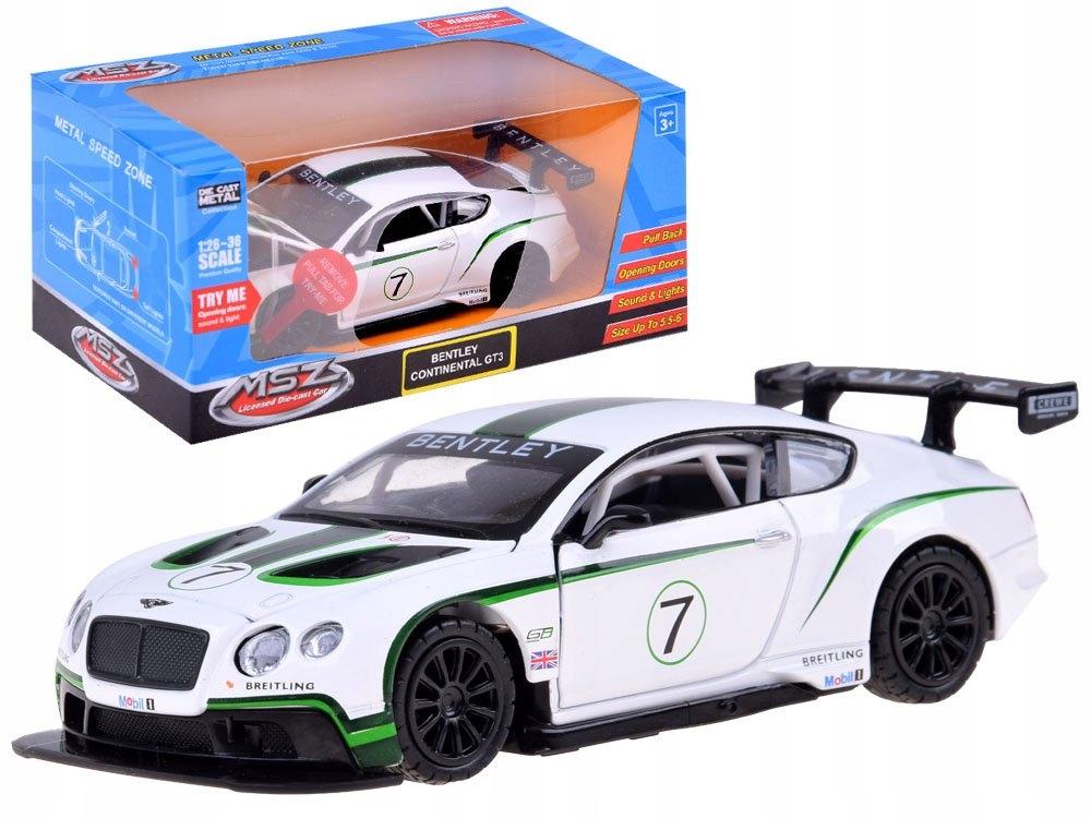 Sportowe auto Bentley 1:32 światło dźwięk ZA3142 Marka inna