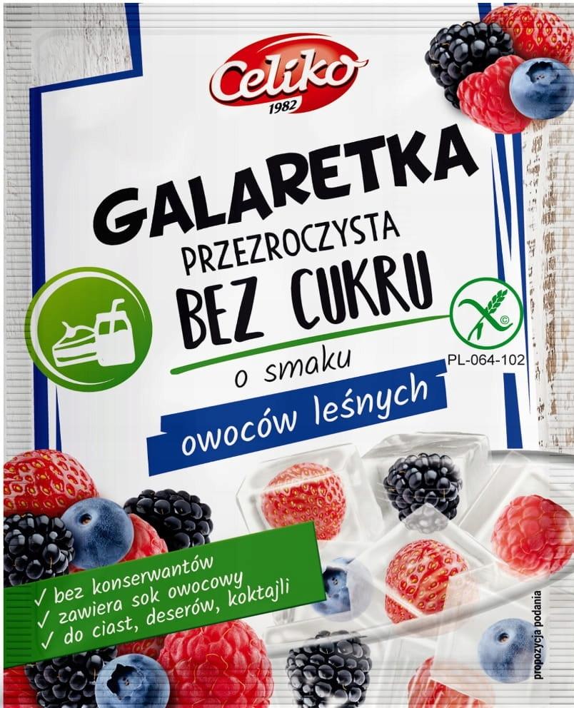 Galaretka bez cukru owoce leśne (przeźroczysta) Ce