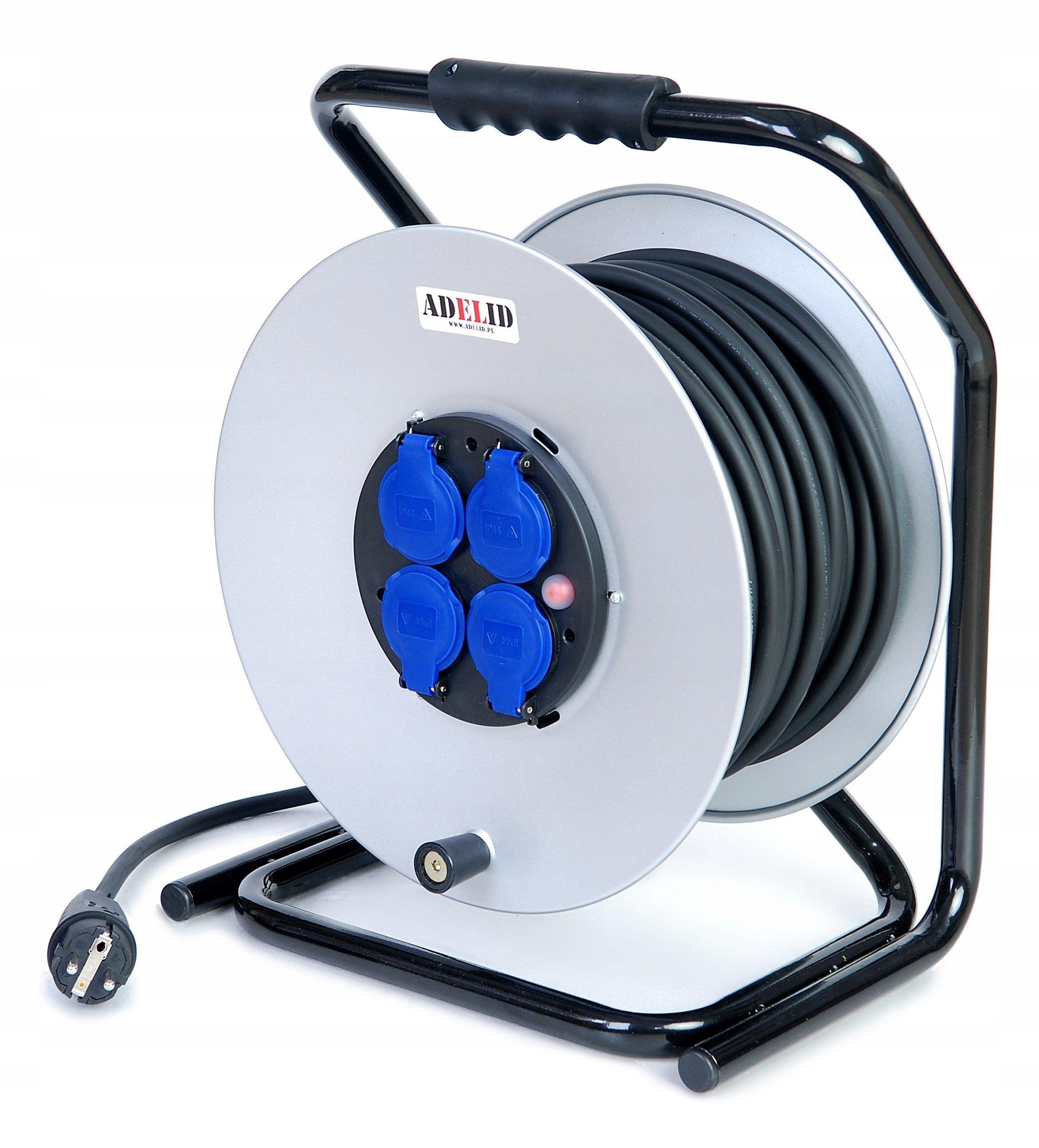Predlžovací kábel 100m 3x1,5 Gumový kovový bubnový kábel