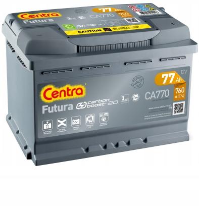 аккумулятор центры futura ca770 12v 77ah 760a