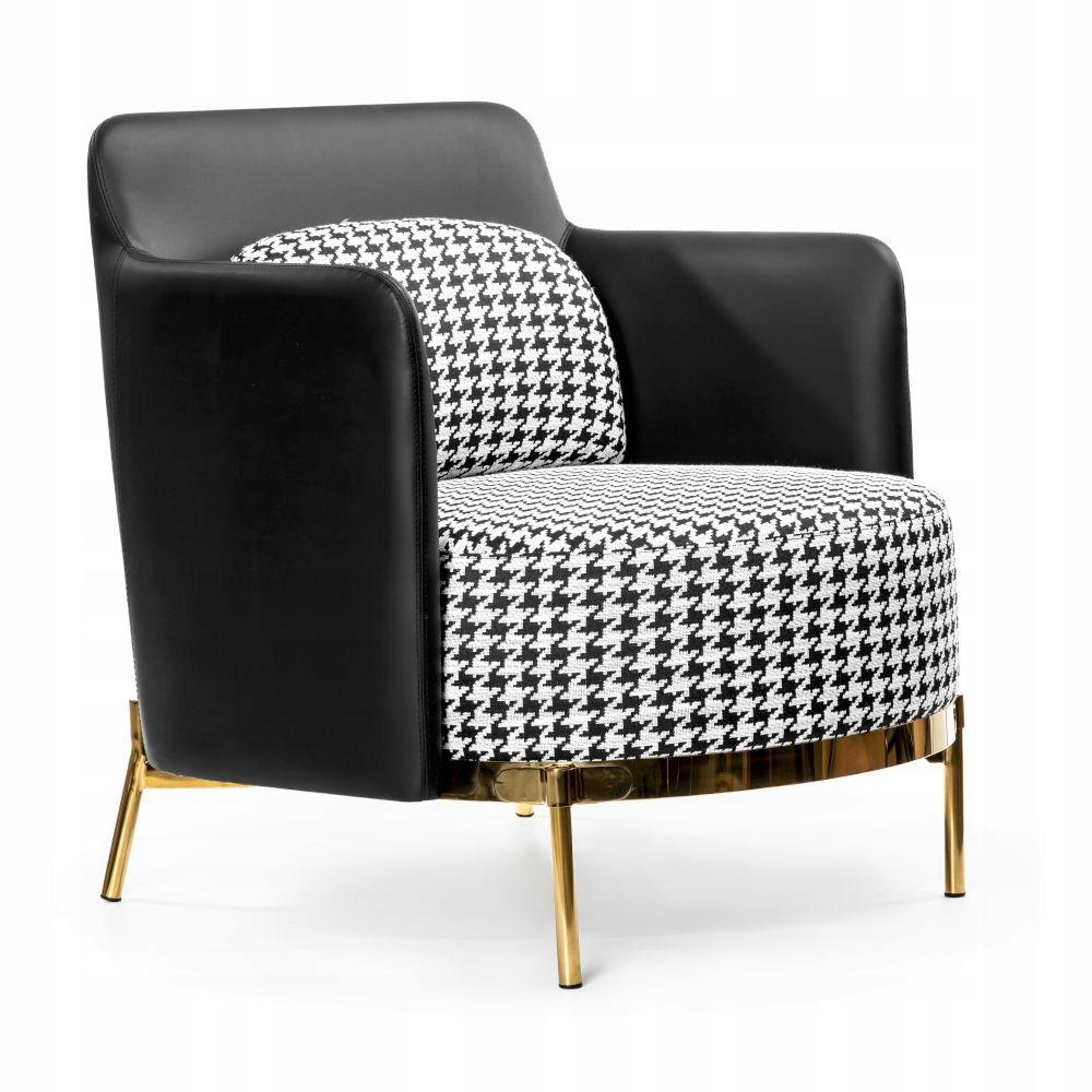Кресло TEDDY Elegant удобное Golden Legs / Pepitka