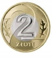 2 злотых 2021 монеты с мешком