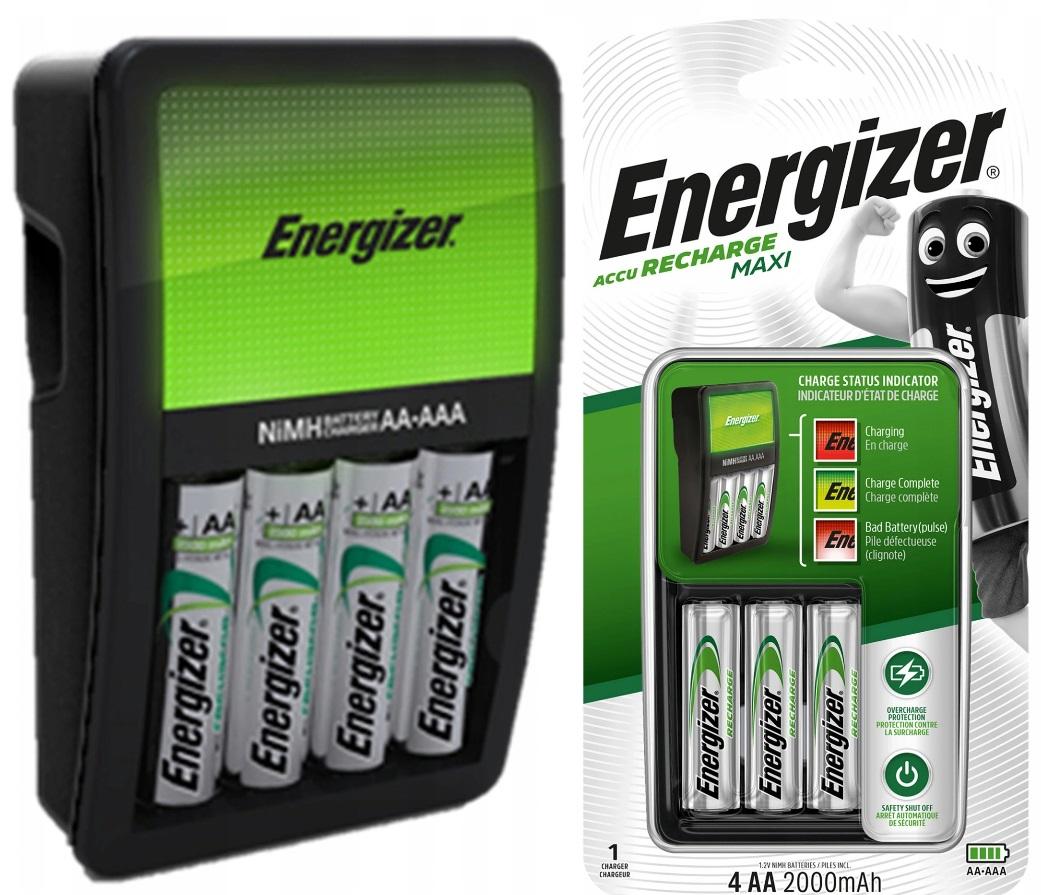 Ładowarka MAXI AA AAA + 4x akumulatorki R6 2000mAh