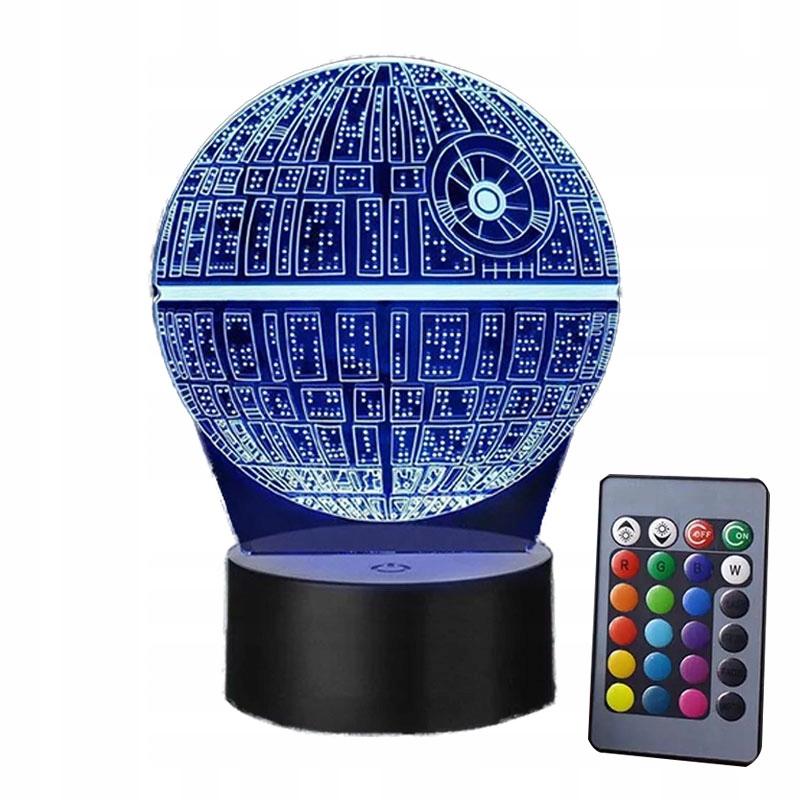 STAR WARS LAMPKA NOCNA 3D LED + PILOT PREZENT