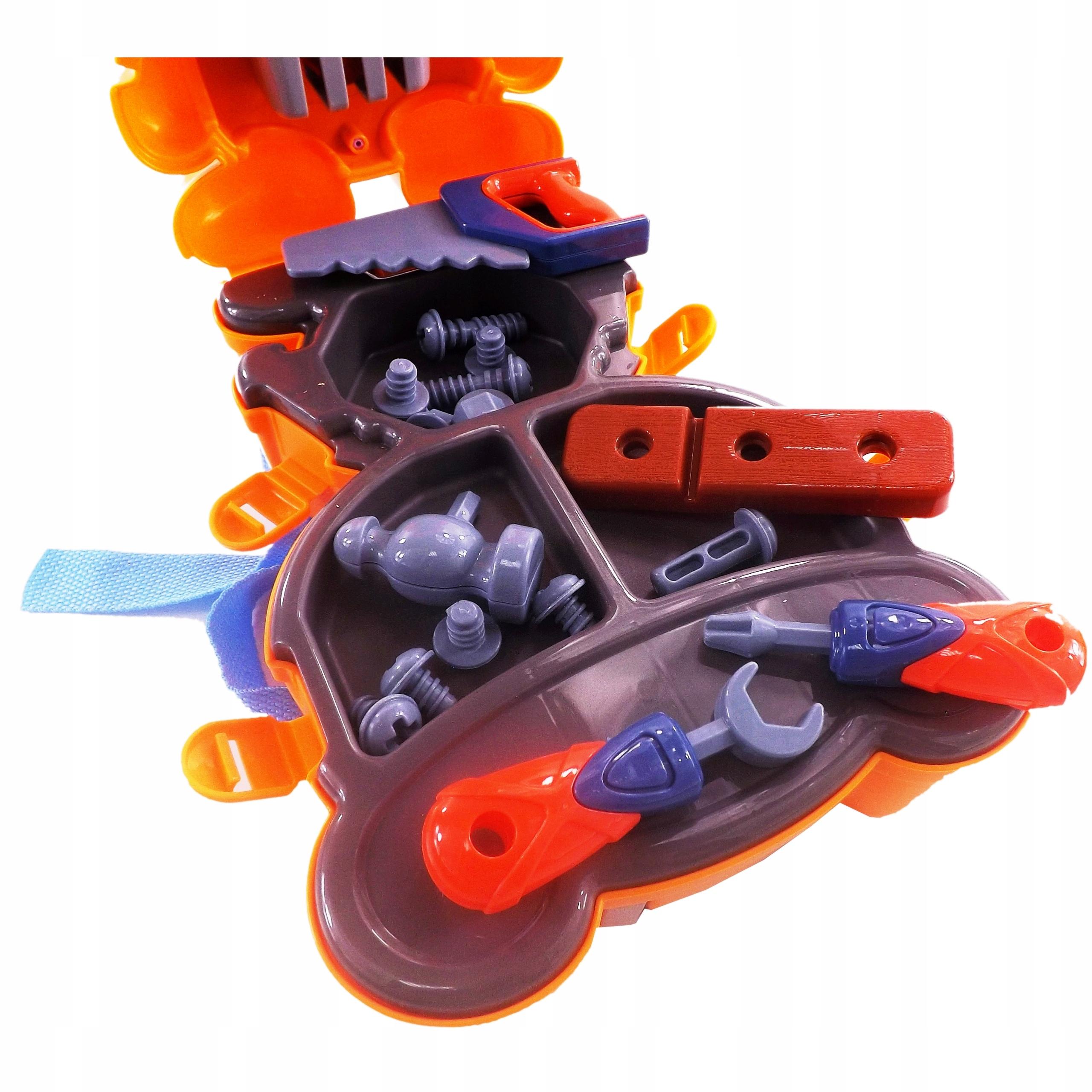 Warsztat zestaw plecak tygrysek narzędzia 23 el 40 Szerokość produktu 19 cm