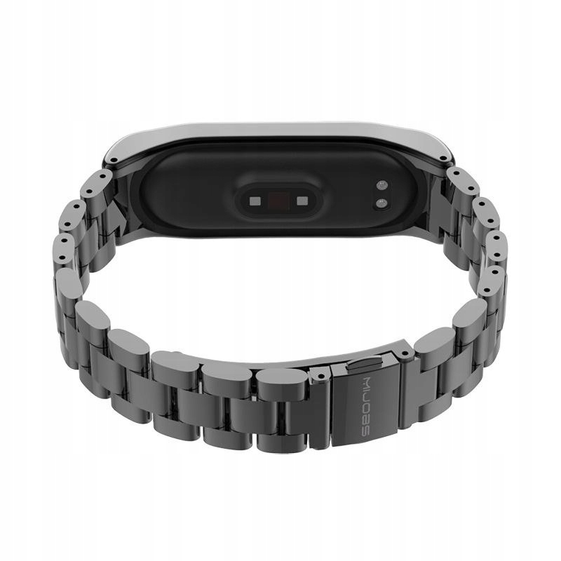 Bransoleta Stainless do Xiaomi Mi Band 3 / 4 Kolor czarny