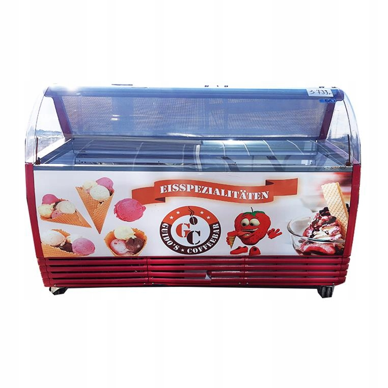 Стеклянная витрина для мороженого ISA 13 cuvette