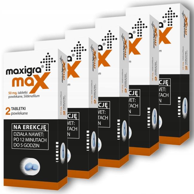 Maxigra MAX 50mg sildenafil sex potencja wzwód 10x