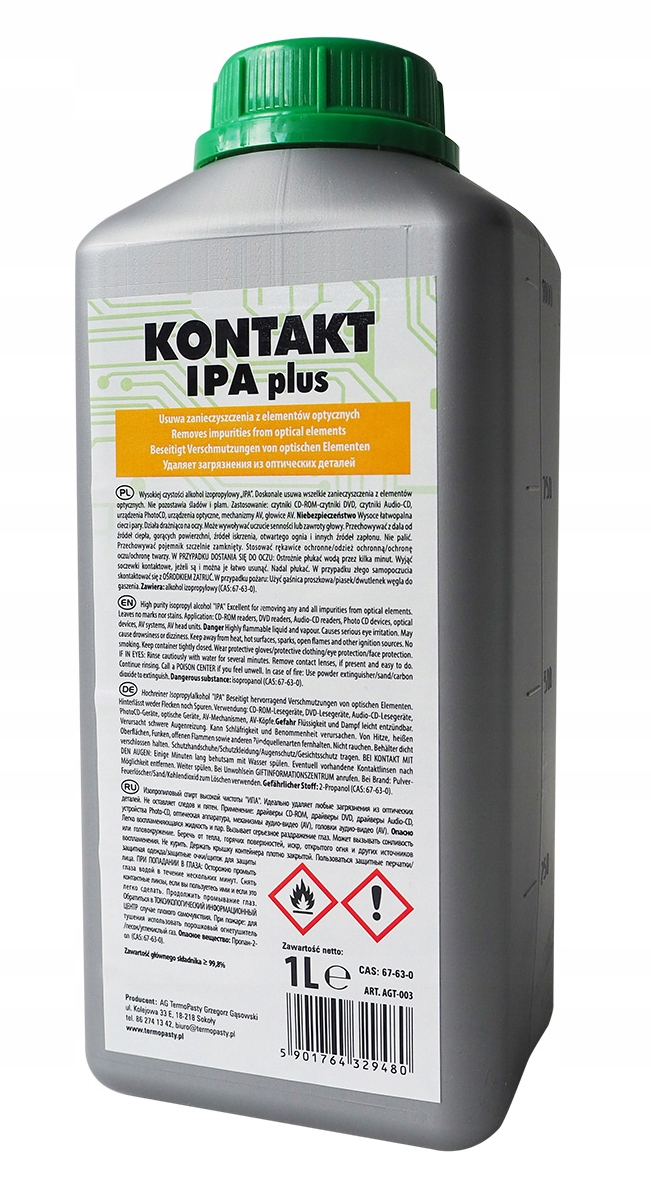 ISOPROPANOL KONTAKT IPA PLUS 1L AG 1000ML