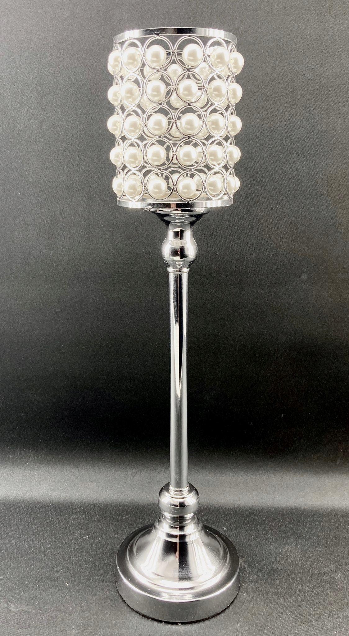 Подсвечник из металла ELEGANT LAMPION + PEARL 46см