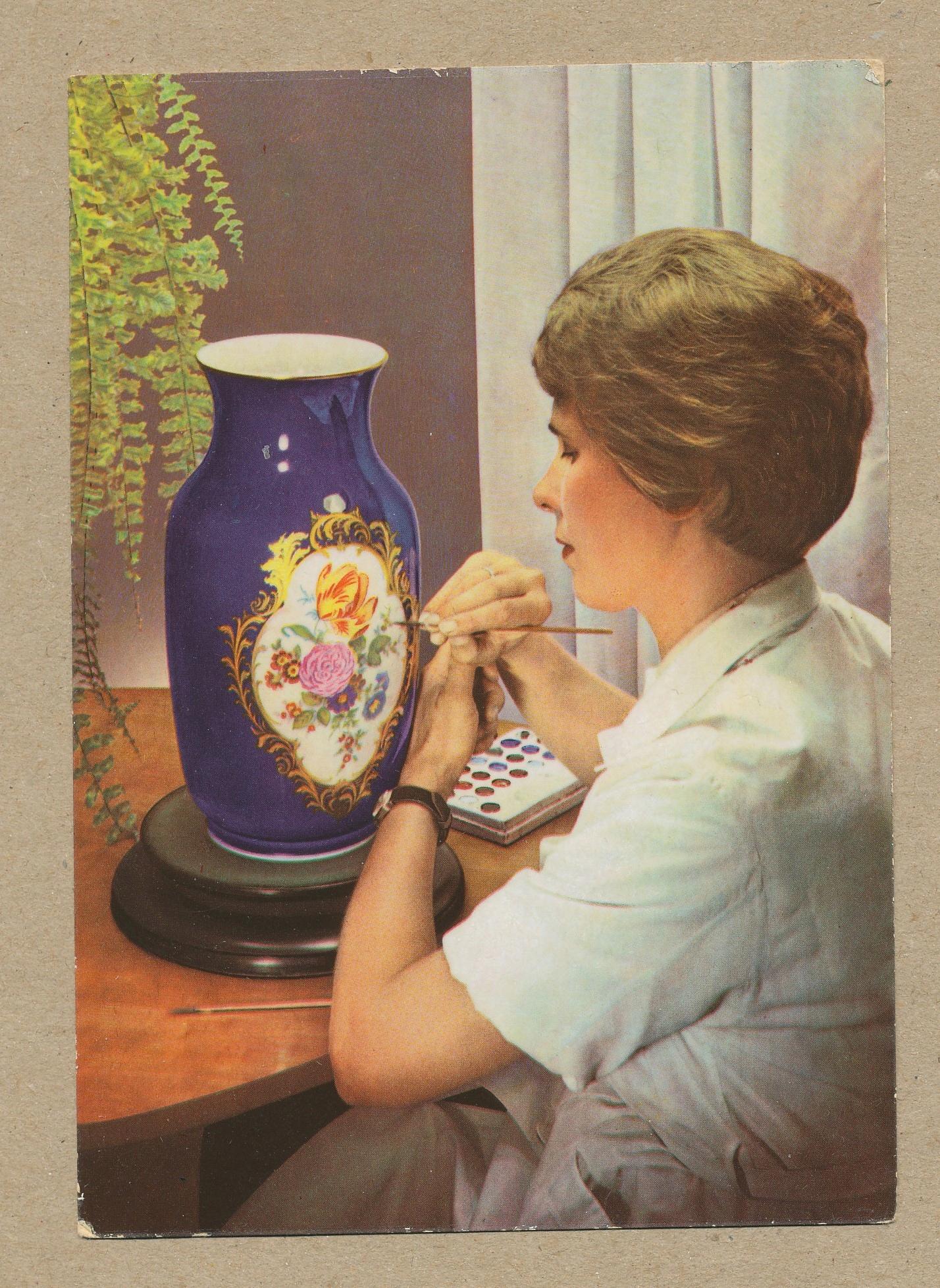 ГЕРМАНИЯ - MEISSEN MEISSEN фарфоровая ваза женщина