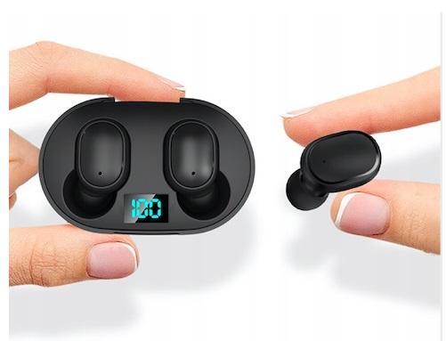 Słuchawki Bezprzewodowe 5.0 Android Powerbank Model Mini E6S