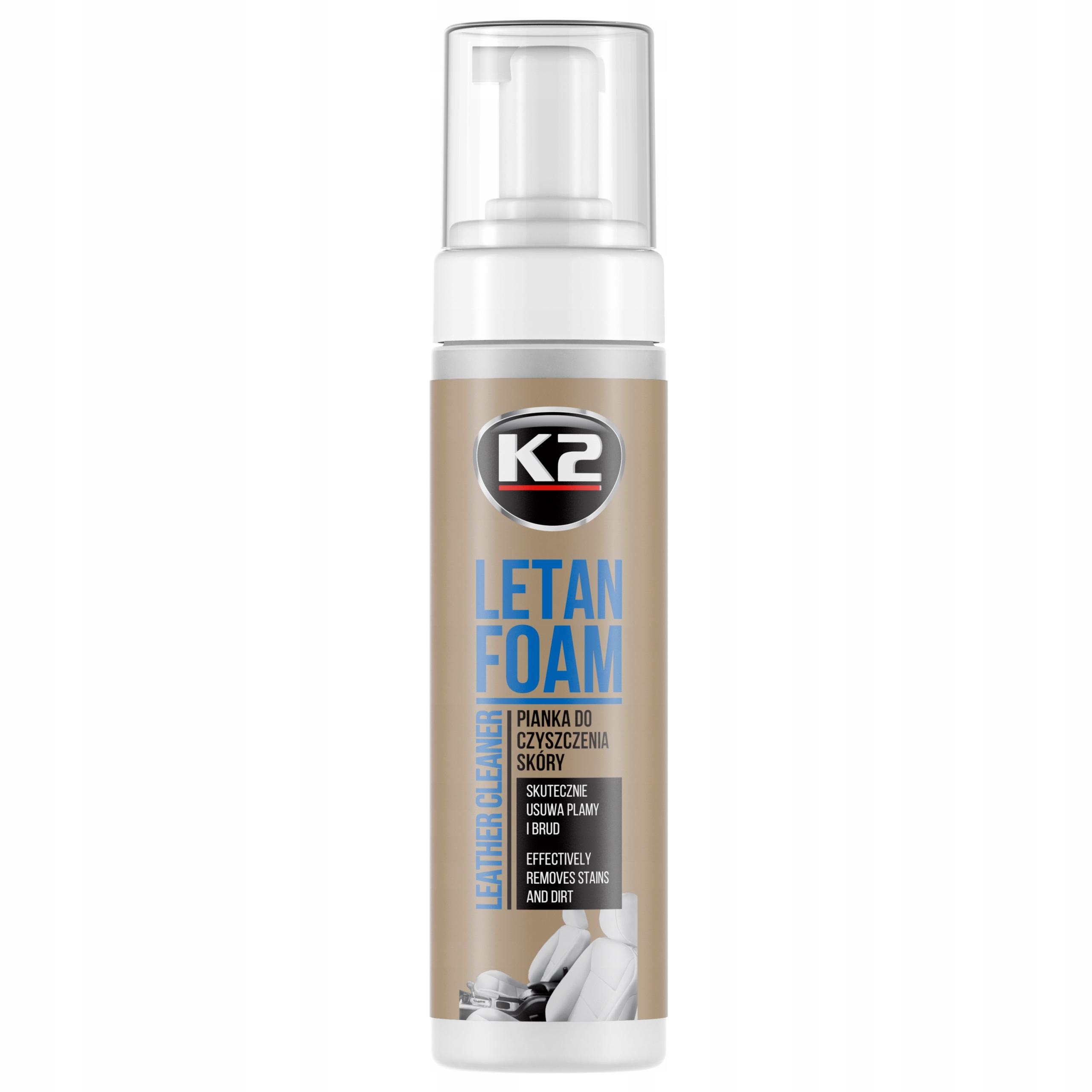 K2 LETAN FOAM 200 мл ПЕНА для очистки кожи