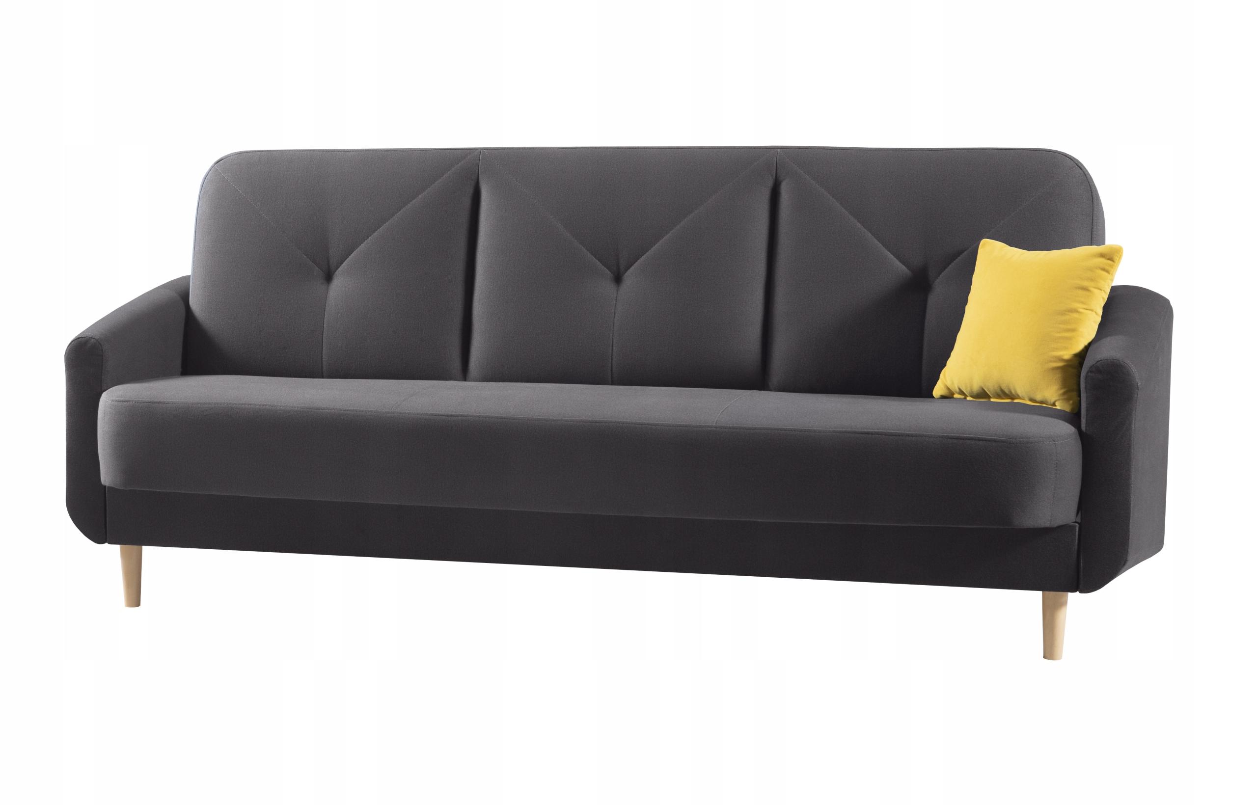 Bequemes Schlafsofa DIXI f. Schlaf - Farben - Holz Die Tiefe der Möbel 97 cm