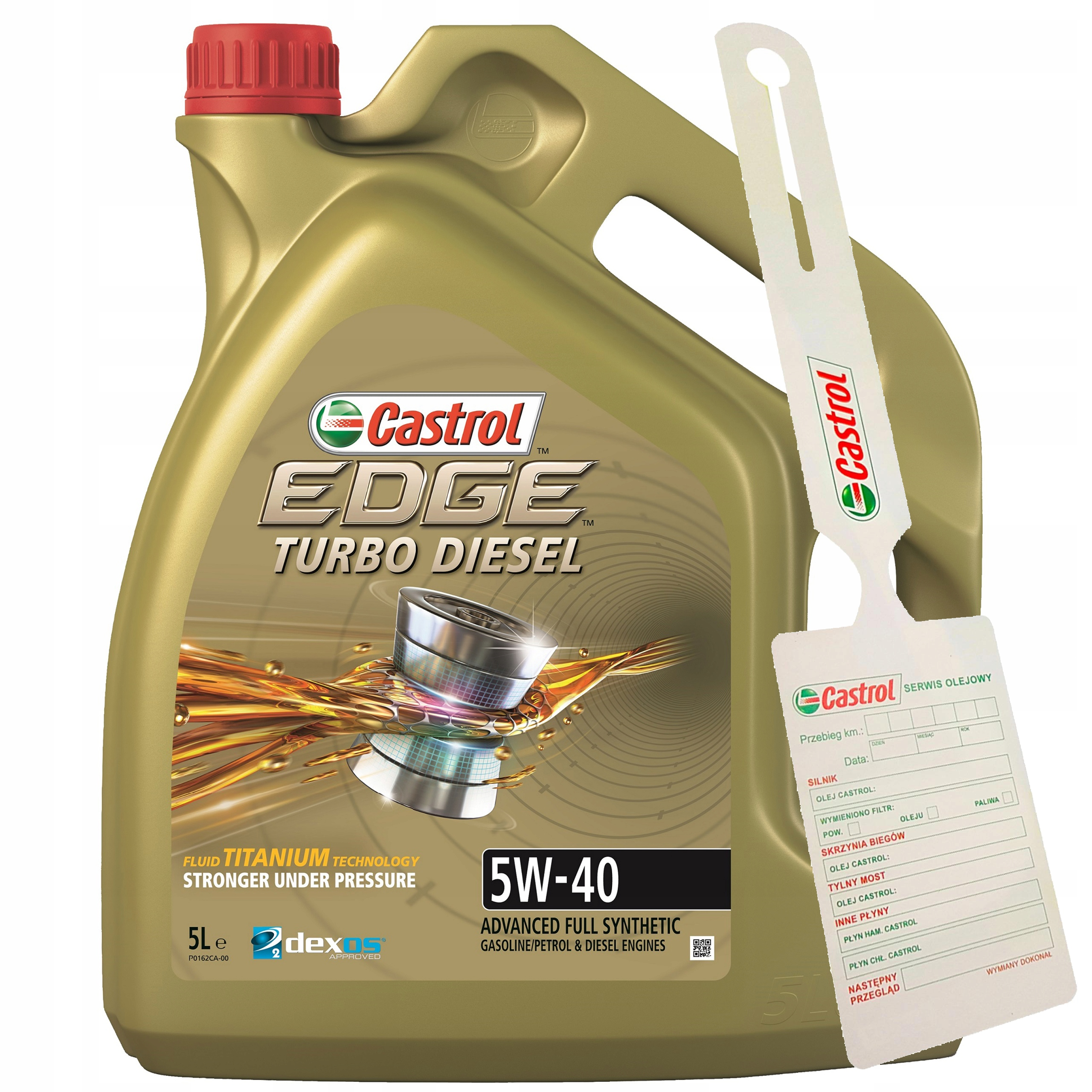 МАСЛО CASTROL EDGE TURBO DIESEL 5W40 5л + подвеска