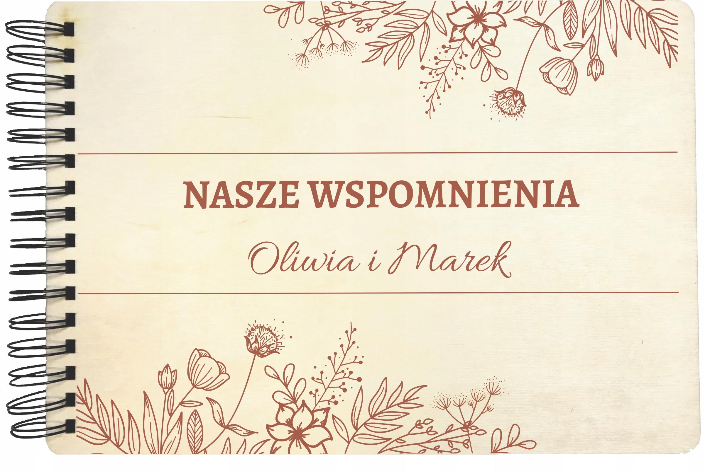 DREWNIANY ALBUM ŚLUBNY NA ZDJĘCIA GRAWER PREZENT