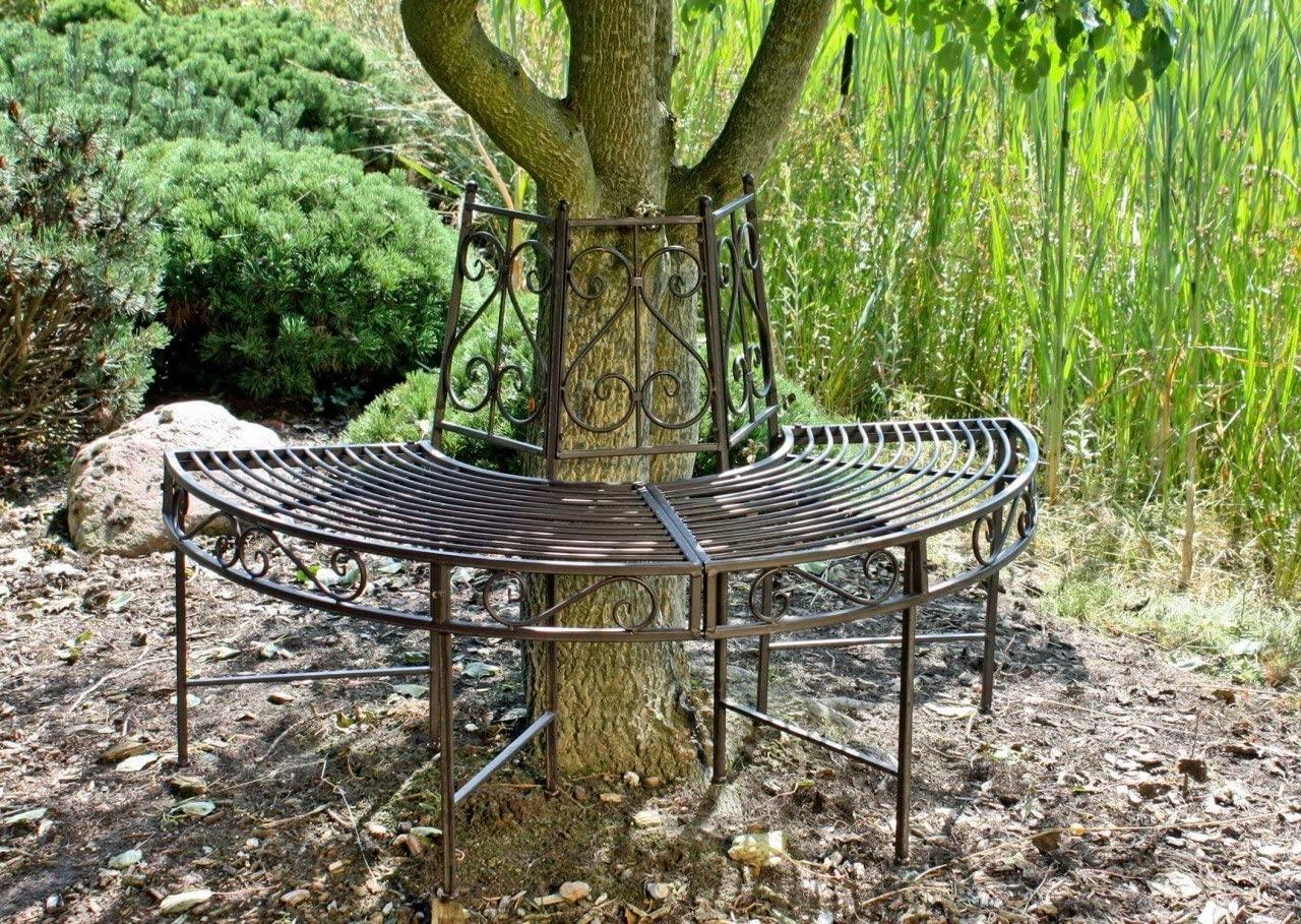 NARVI NEMECKÁ polkruhová kovová záhradná lavica Garden Line