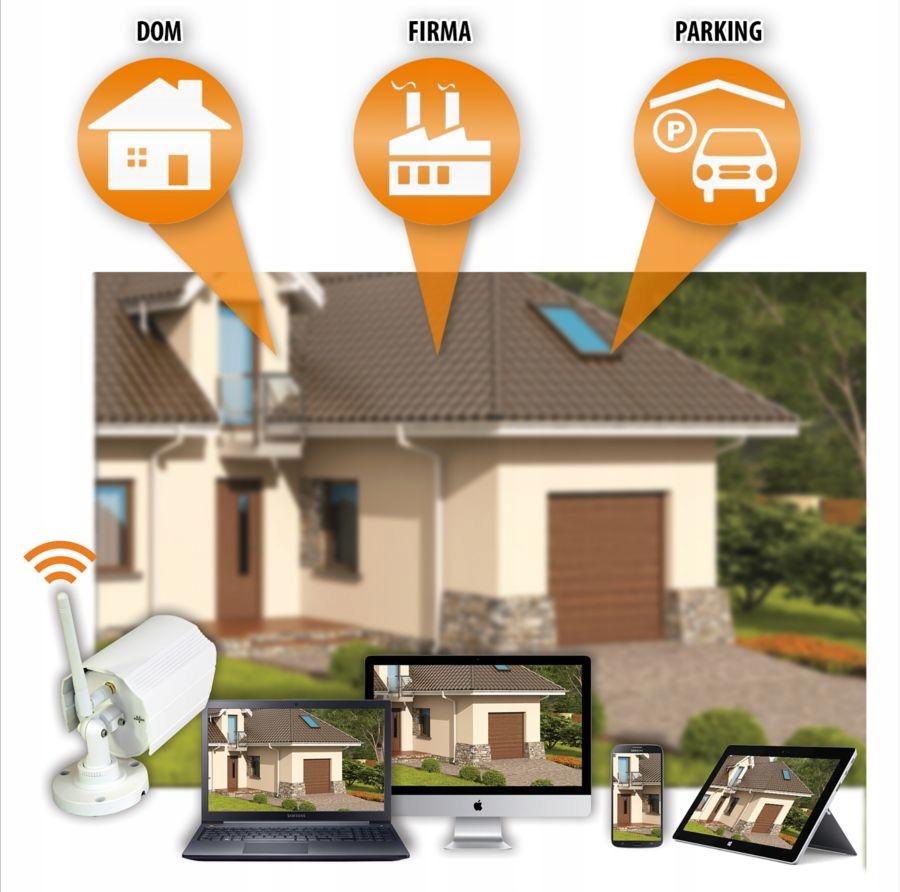 Zestaw monitoringu 4 kamery WIFI Nagrywarka p2p Obiektyw stałoogniskowy
