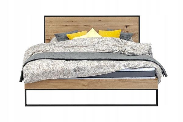 Dubová posteľ FRAME 140x200, RETRO, VINTAGE, LOFT