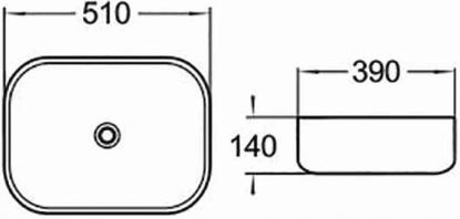 MEXEN LORITA УМИВНИК 51x39 см. ЧОРНИЙ ЗОЛОТИЙ ШАБЛОН Тип прямокутний