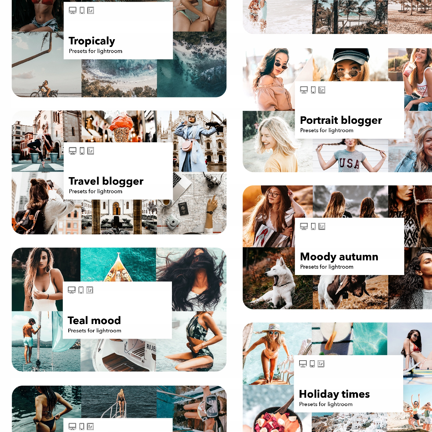 Item Lightroom presets 15 collections with over 100 filters