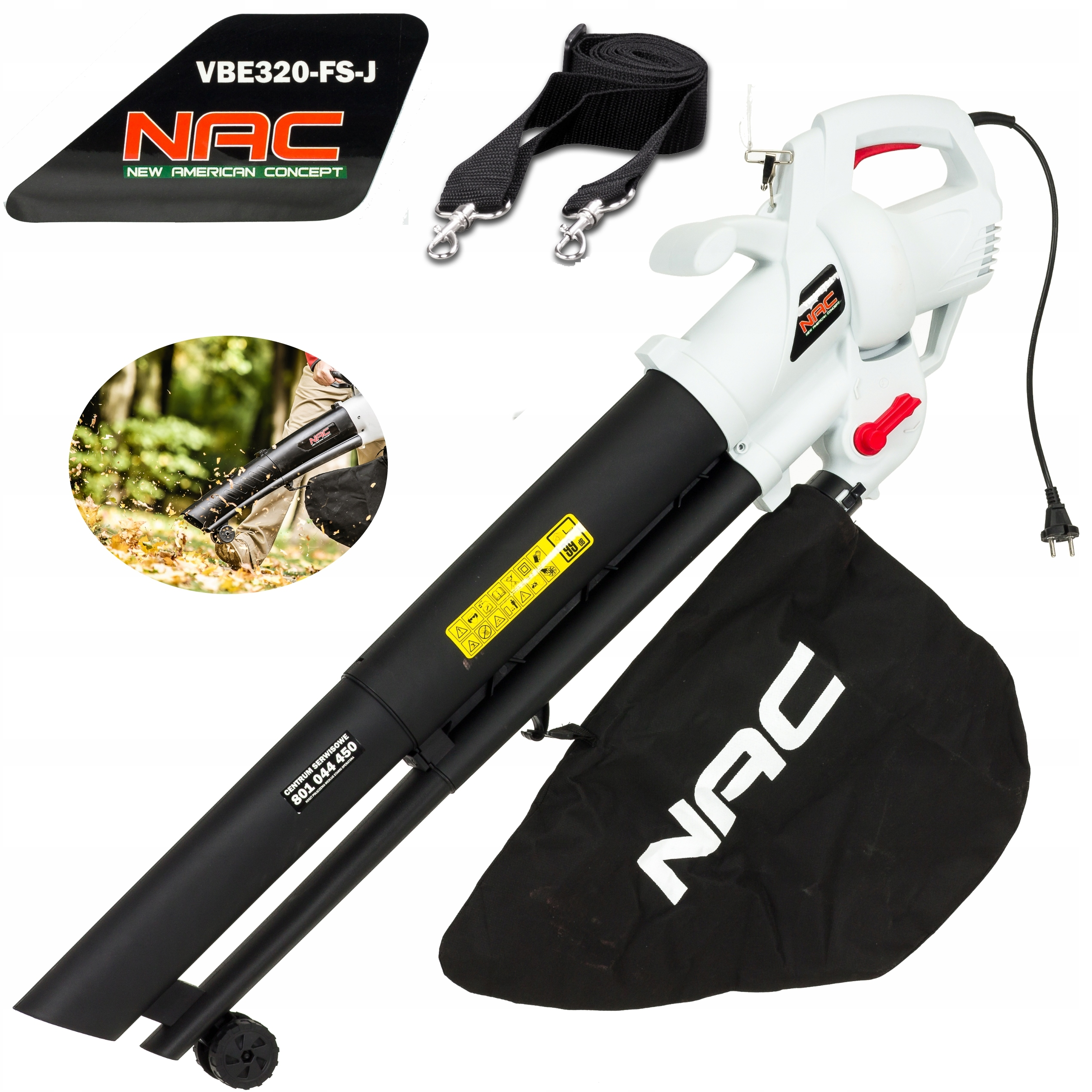 Садовый пылесос Leaf blower NAC 3200W 2in1