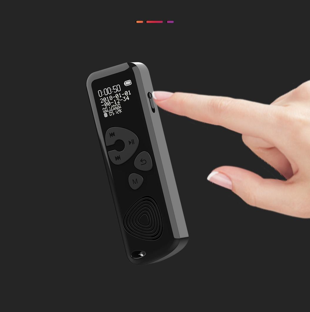 Szpiegowski Dyktafon cyfrowy 1024Kbps 8GB detekcja Funkcje automatyczne wyłączanie funkcja dysku wymiennego podświetlenie wyświetlacza regulacja czułości mikrofonu