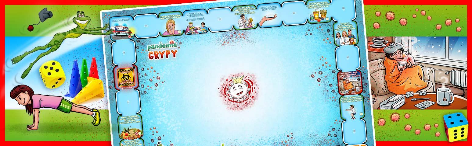 eko gra planszowa dla dzieci PANDEMIA GRYPY Płeć Chłopcy