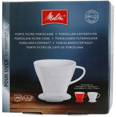 Купить Капельница для кофе из фарфора Melitta 1x4 - красная на Otpravka - цены и фото - доставка из Польши и стран Европы в Украину.