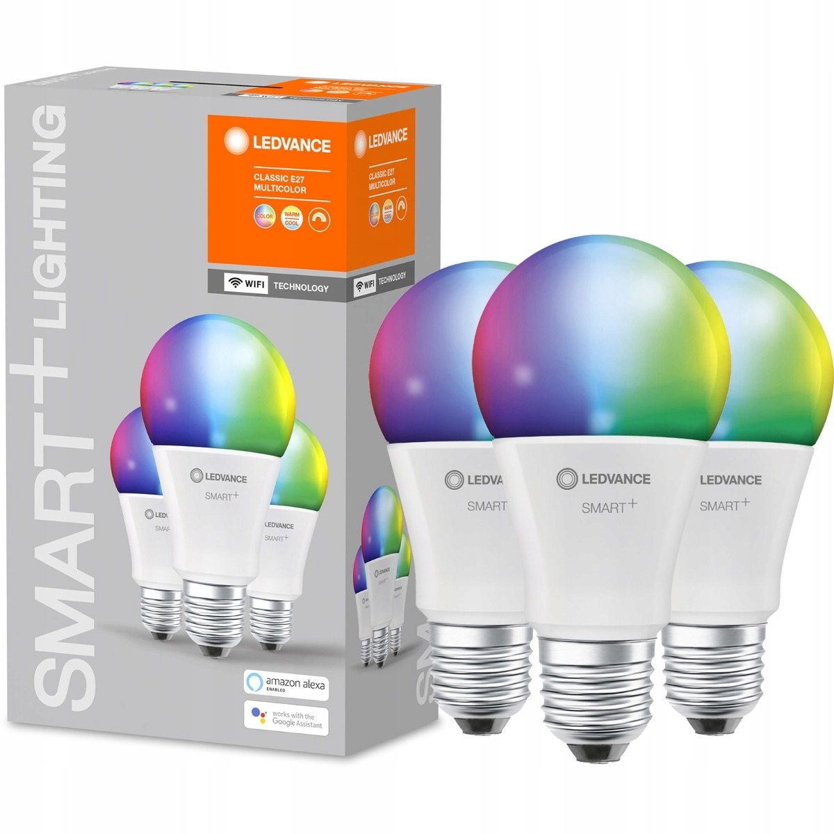 Купить 3x светодиодные лампы E27 14W RGB SMART + WiFi LEDVANCE на Otpravka - цены и фото - доставка из Польши и стран Европы в Украину.