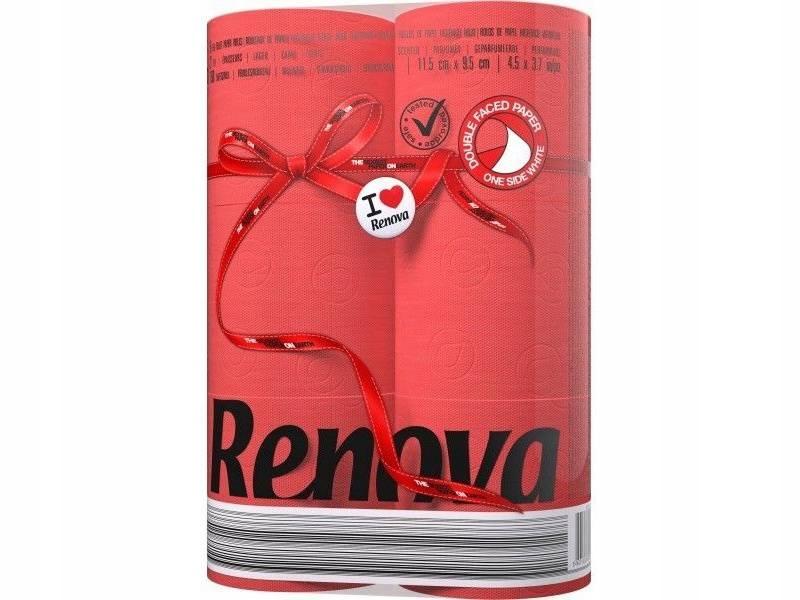 Бумага Туалетная RENOVA красная португальский 6шт