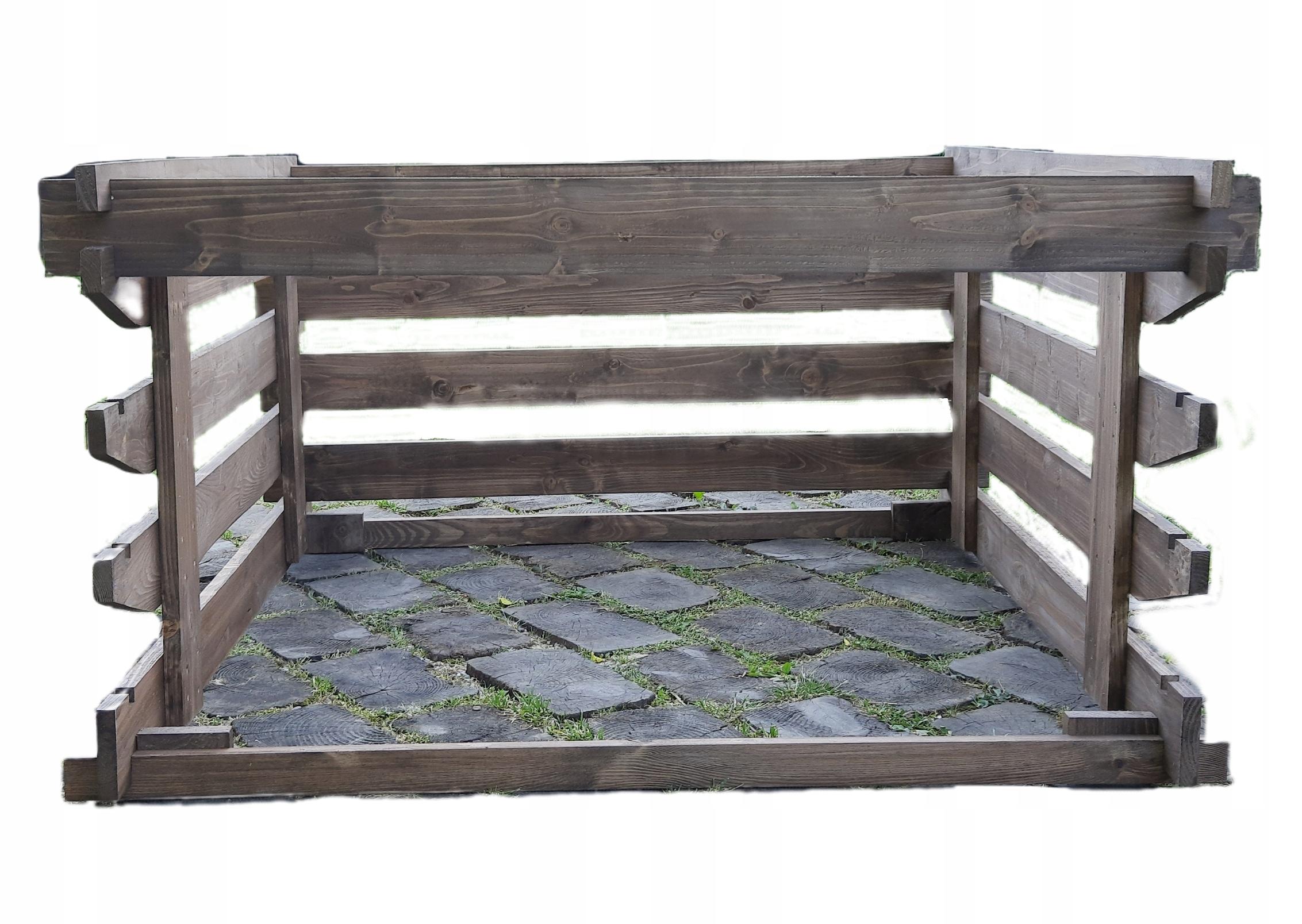 Компостер деревянный 750 л, открытая пропитка