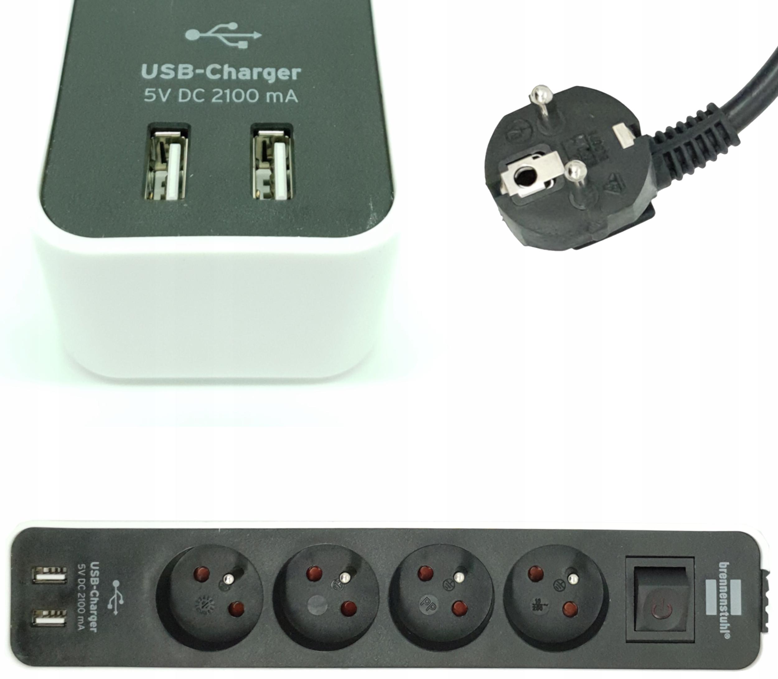 Удлинитель удлинителя с быстрым зарядным устройством USB