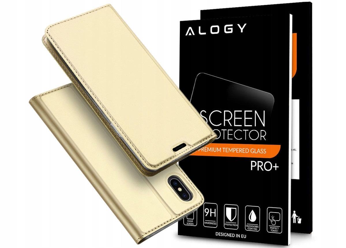 Etui Dux Ducis Portfel iPhone Xs Max + Szkło Alogy