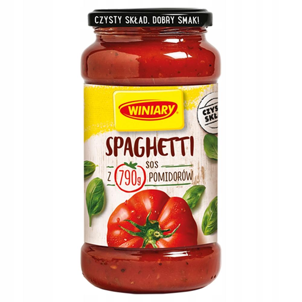 WINIARY Sos Spaghetti 500g danie obiadowe słoik