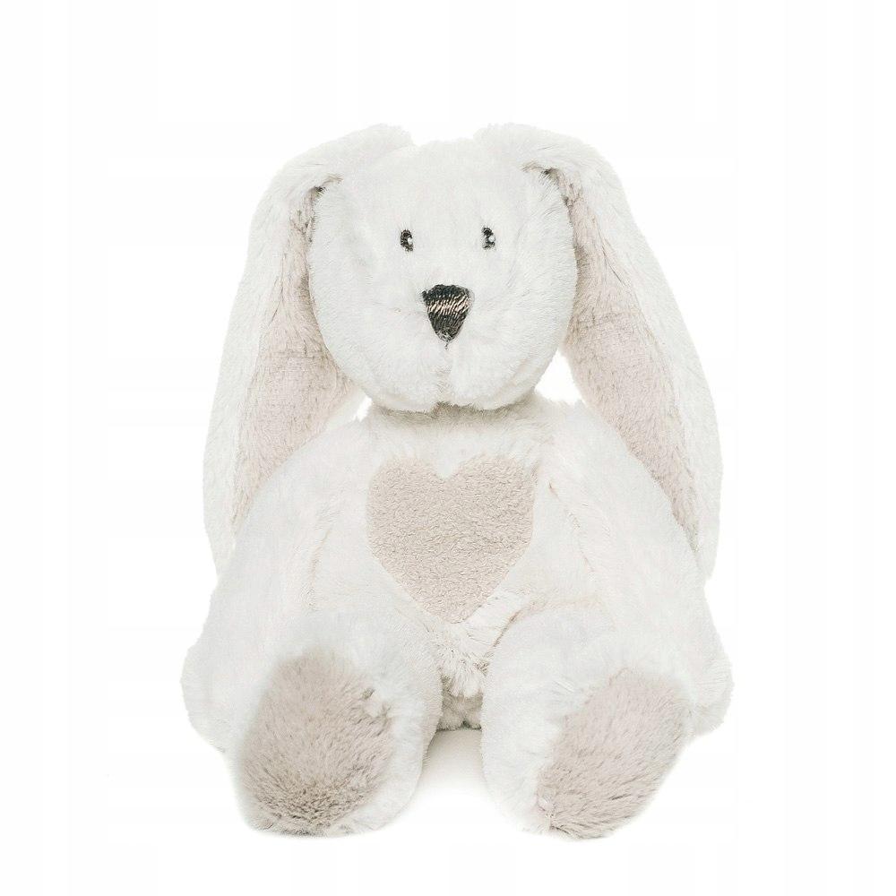 Plyšová hračka Teddy Cream Hare, malá biela, 33 cm