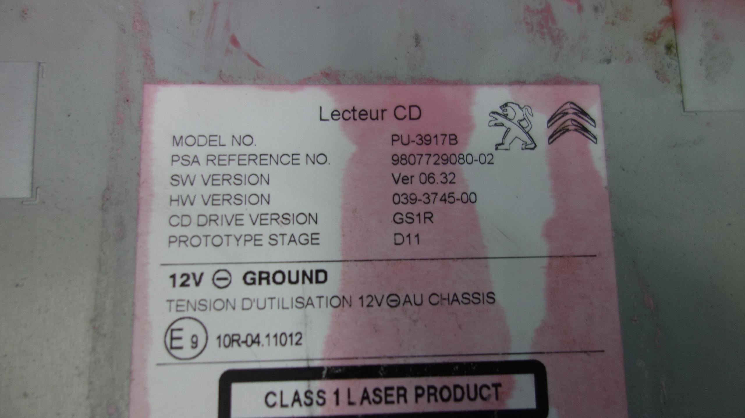 Picture of PEUGEOT 308 T9 RADIO NAVI NAVI 9810475880