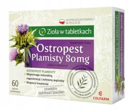 Colfarm Ostropest Plamisty 60 tabletek Na Wątrobę