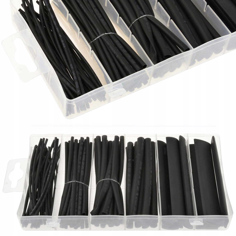 Сжатие трубки трубки набор 100pcs черный
