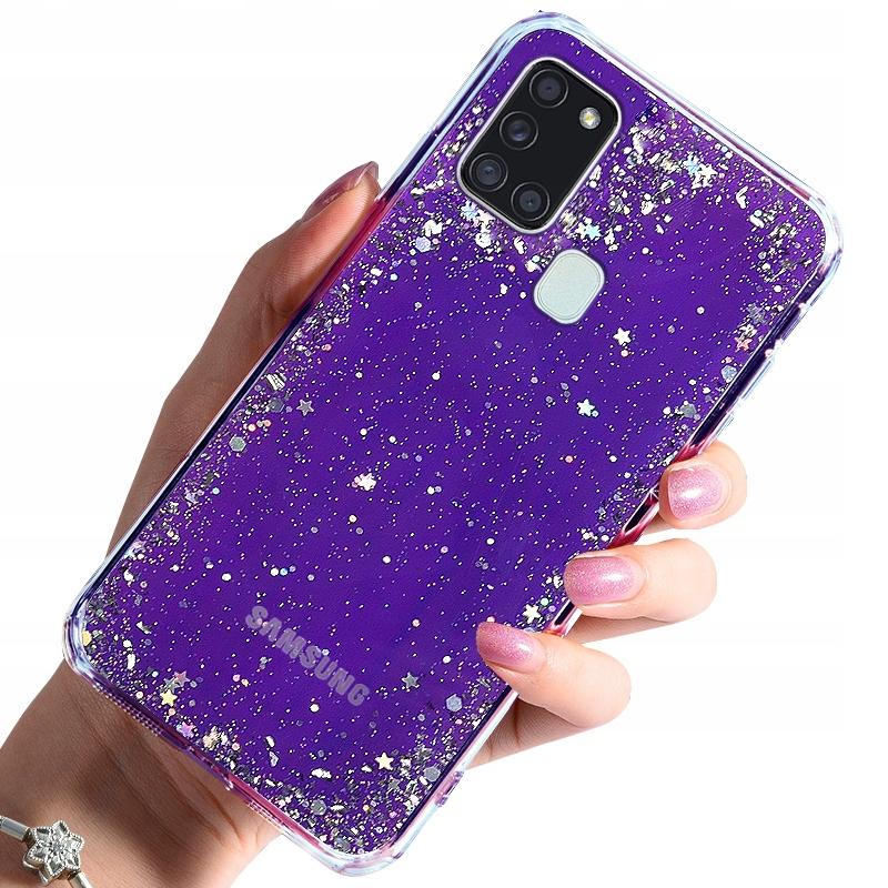 Etui do Samsung Galaxy A21S CASE BROKAT + SZKŁO 9H
