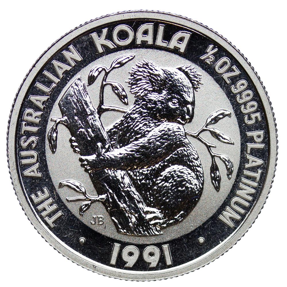 Austrália 50 dolárov 1991, Koala 1/2 unca Platinum