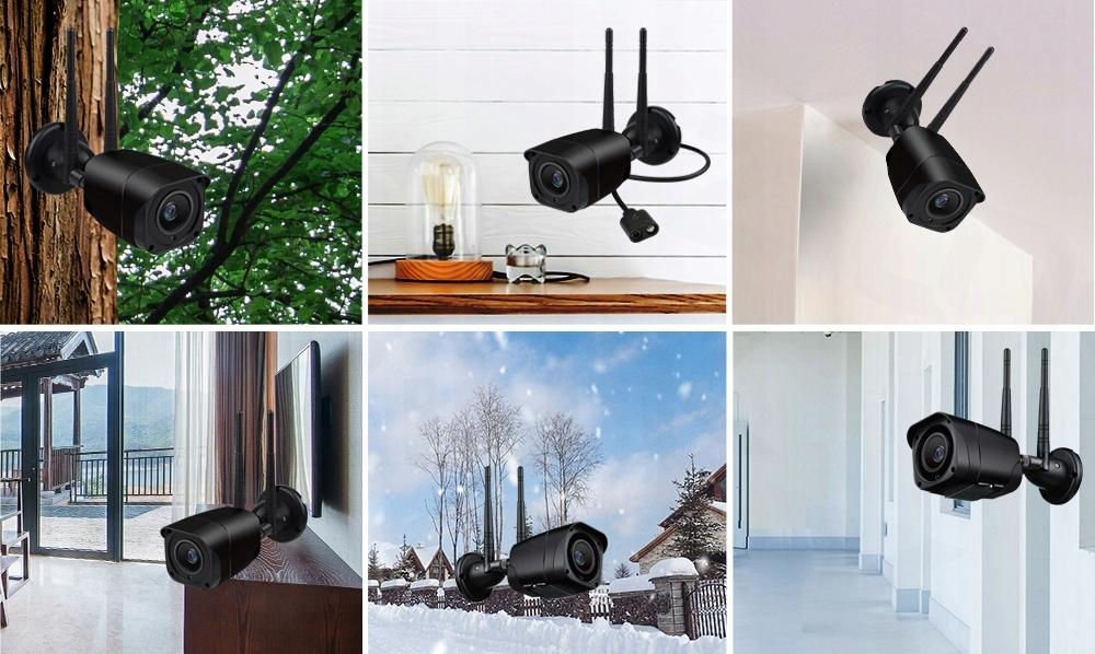 CZARNA KAMERA LTE 4G ZEWNĘTRZNA GSM 5Mpx internet Typ kamery czarno-biała kolorowa na podczerwień