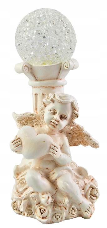 Figurka Anioł ANIOŁEK Led z kulą dekoracyjna 15cm