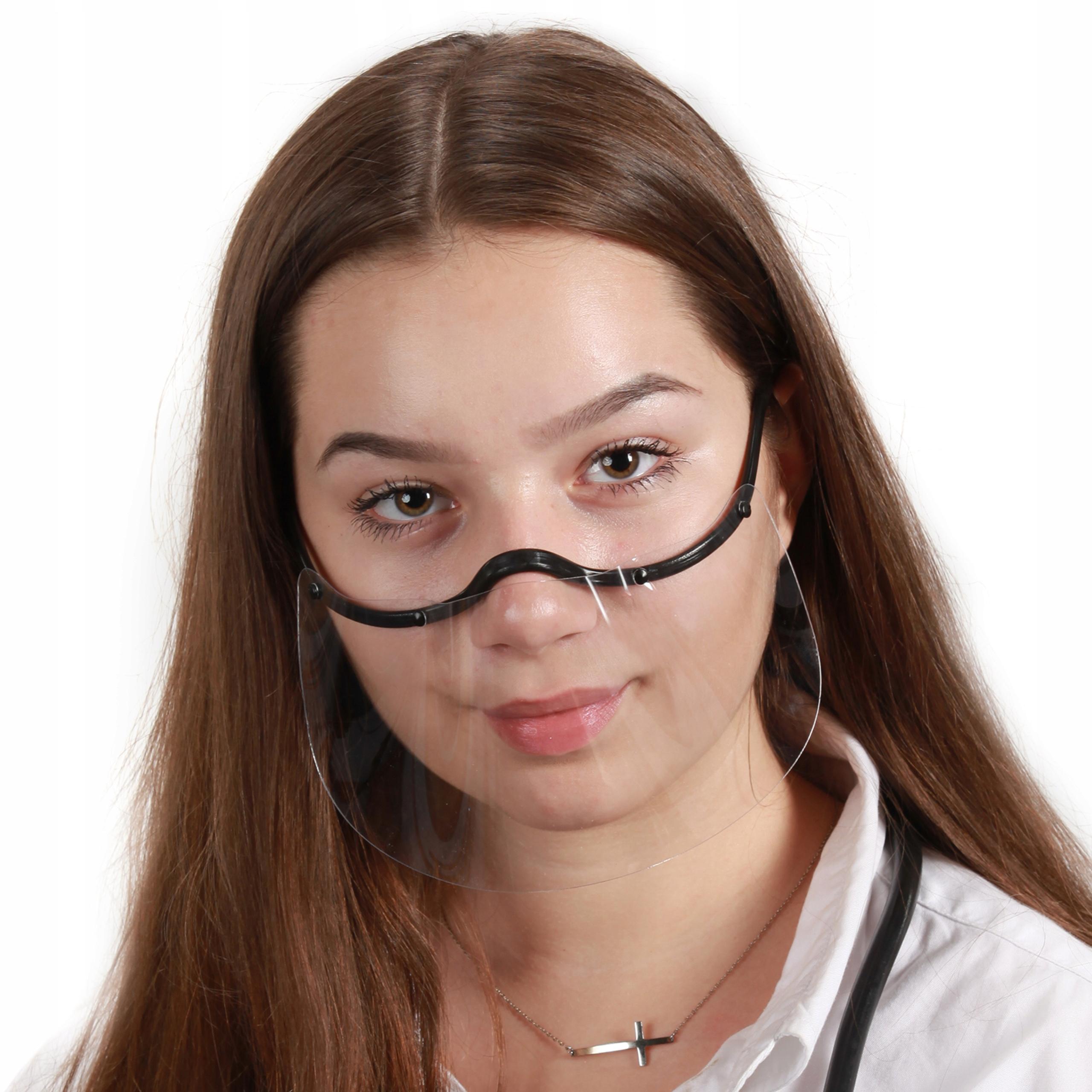 Mini Przyłbica Maska Pół przyłbica osłona usta nos