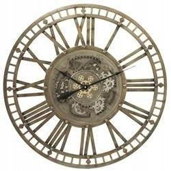 Retro nástenné hodiny zlaté s prevodmi 90,5x90,5x5 cm