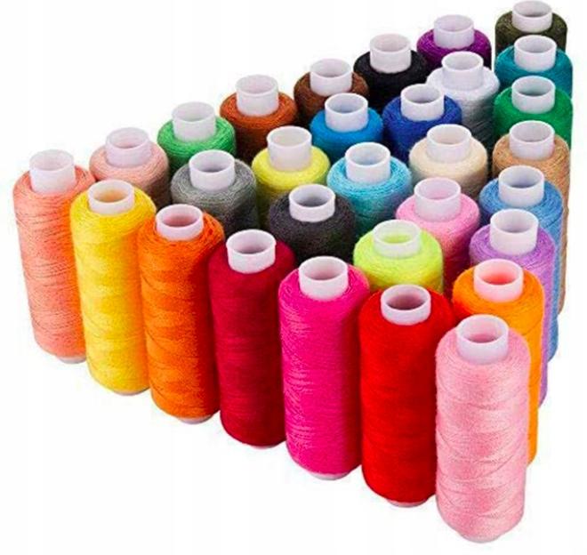 Набор из 30 машинных ниток для ручного шитья 250