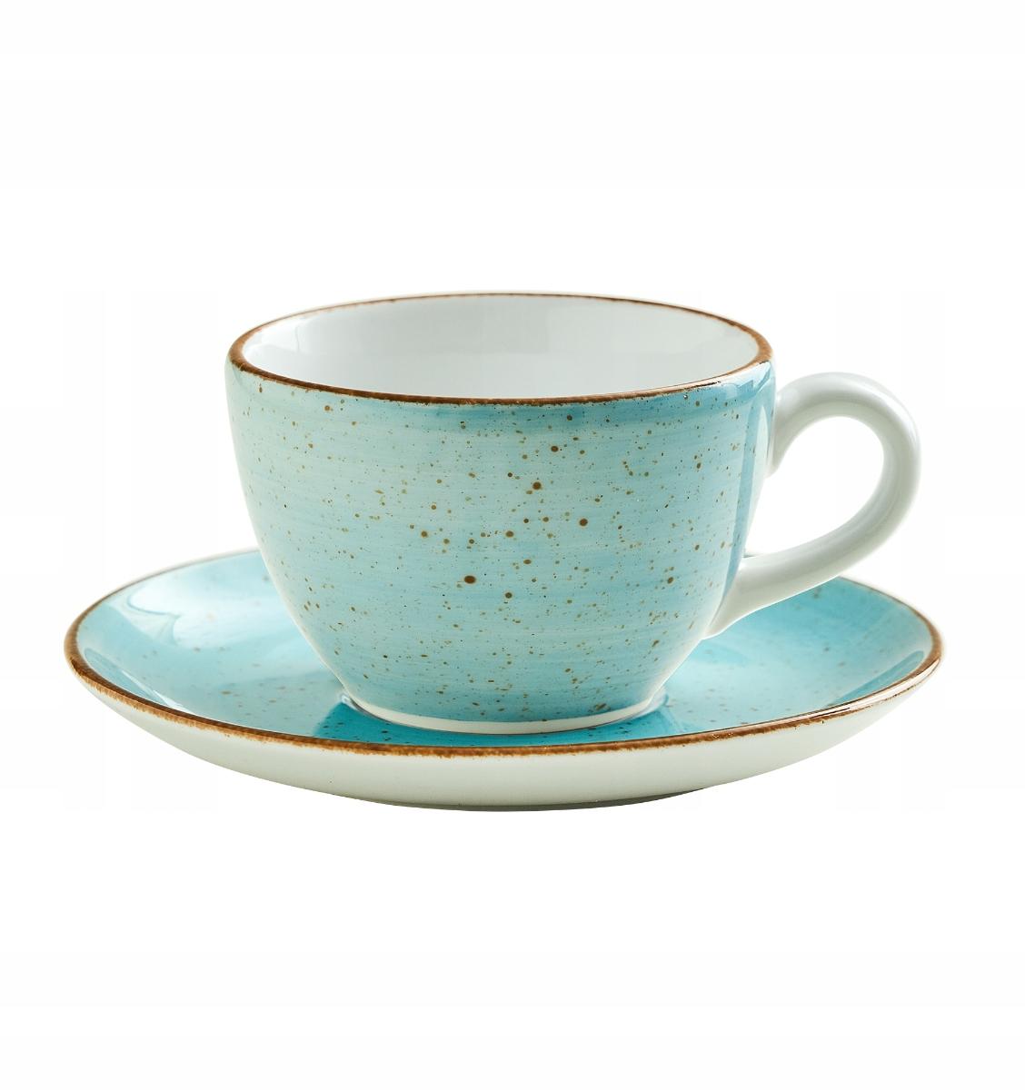 Чашка с ручной росписью. Lubiana лазурно-голубой 180мл